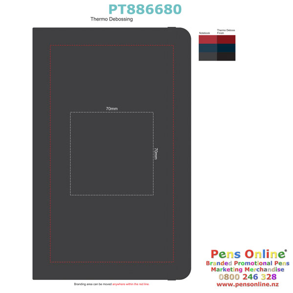 Debossing Template for Pierre Cardin A5 Notebook