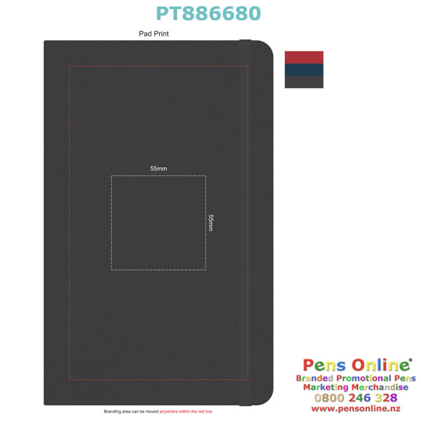 Pad Print Template for PT885914 Pierre Cardin A5 Notebook