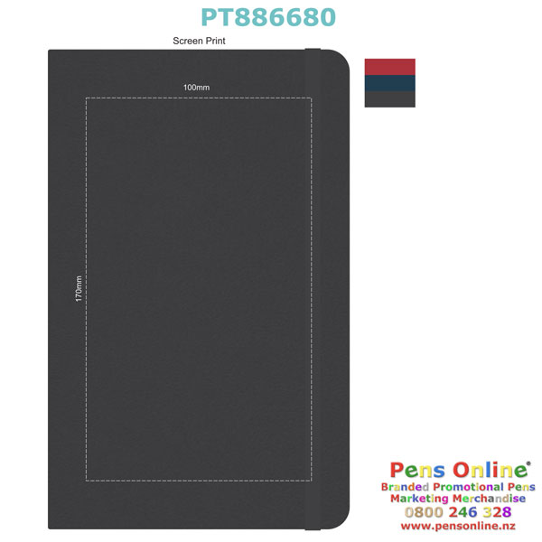 Screen Print Template for Pierre Cardin A5 Notebook