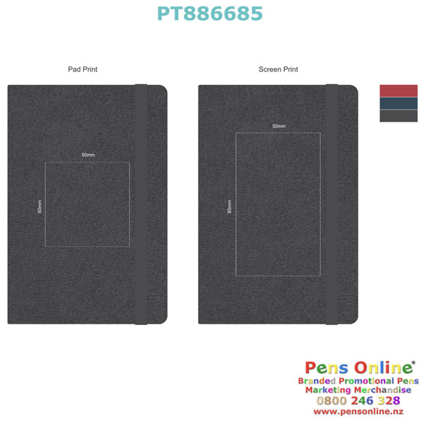 PT886685 Pierre Cardin A6 Notebook - Template, Printing