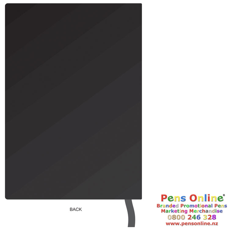 A5 Flexible Lined Notebook -Back Cover Template