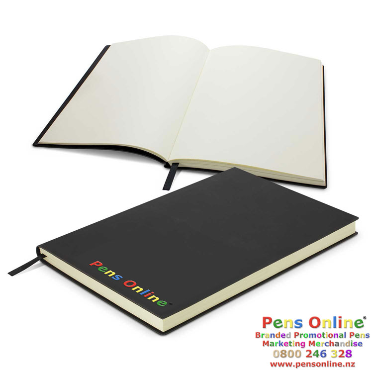 A5 Flexible Unlined Notebook- branded or debossed - Pens Online NZ