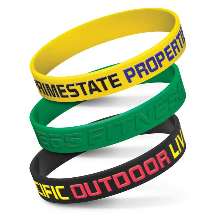 Embossed Silicon Wrist Bands