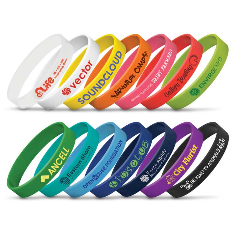 Printed Silicon Wrist Bands