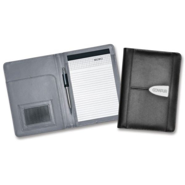 A5 Leather Compendium Branded