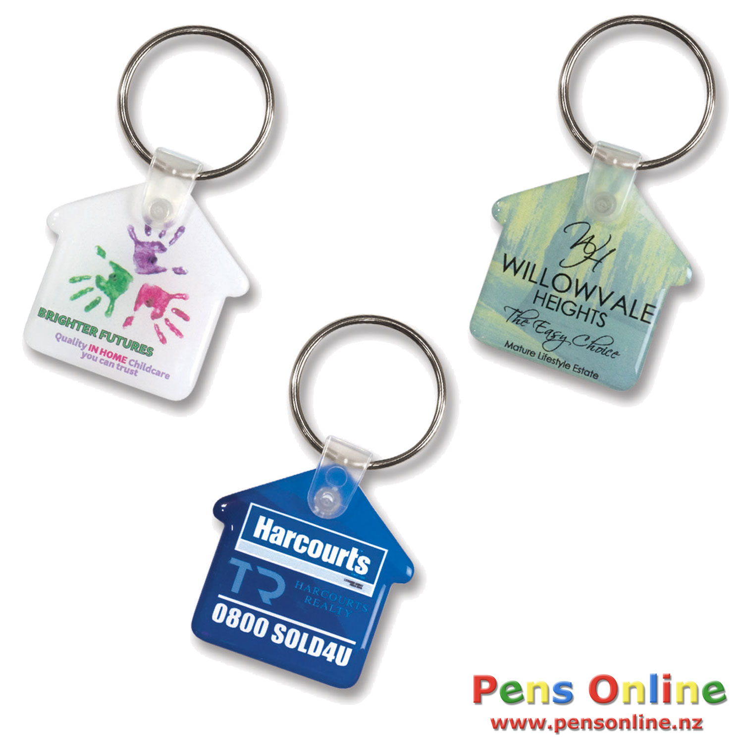House Key Ring - Flexi-Resin Full Colour Finish