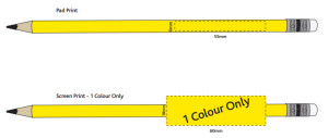 Pencil - Imprint areas - 100428