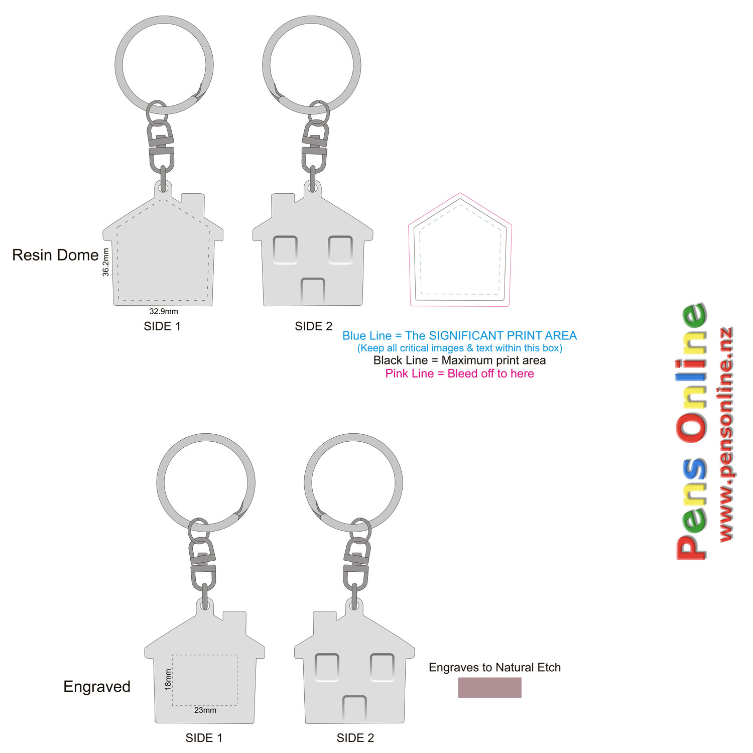 House Key Ring Template